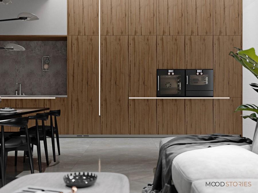Mood Stories Pfleiderer nastrój Elegant Slim Set 1 aranżacja kuchni minimalizm