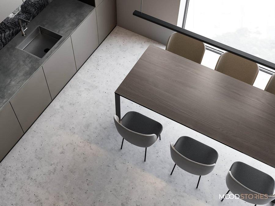 Mood Stories Pfleiderer nastrój Elegant Slim Set 3 aranżacja kuchni minimalizm